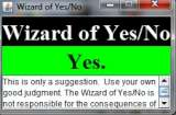 Wizard Of Yes/No image not shown.